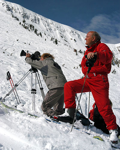 Warren Miller filming